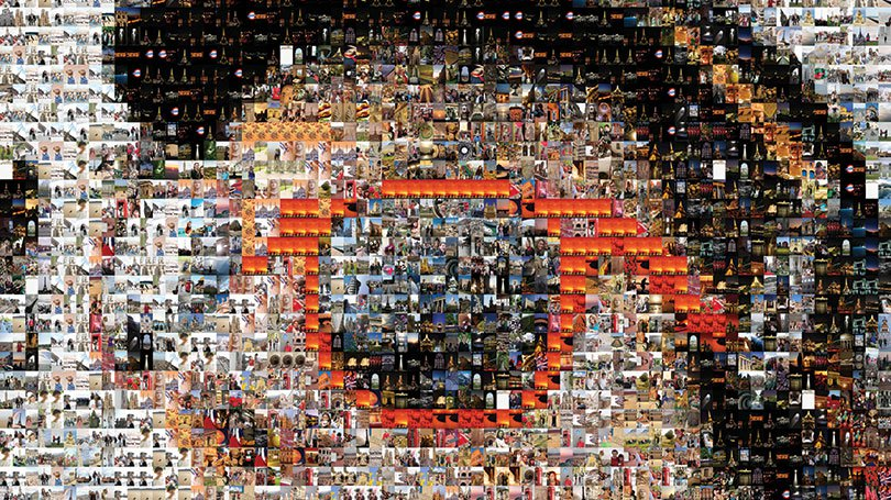 Explorica 2014 photo contest mosaic of girl wearing glasses
